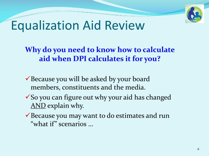 Equalization Aid Review