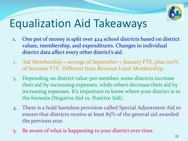 Equalization Aid Takeaways
