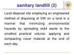 sanitary landfill 2