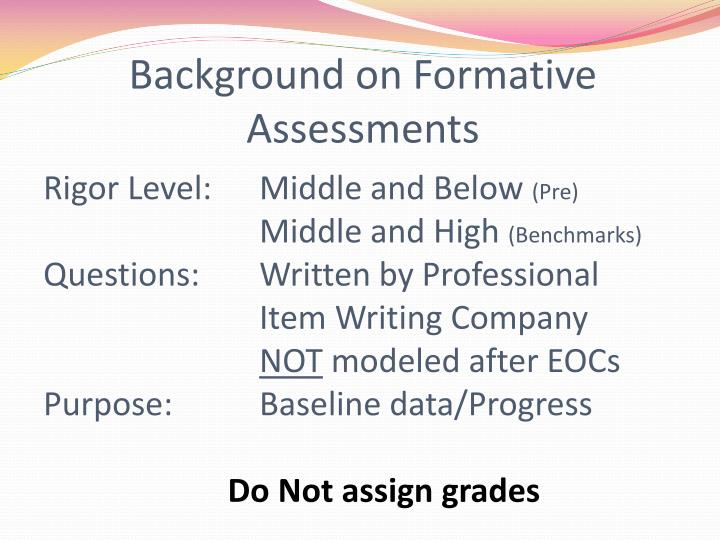 Background on Formative Assessments