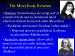 the mind body relation