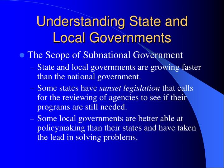 Understanding State and Local Governments