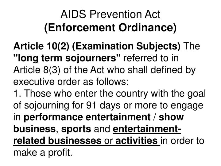 AIDS Prevention Act