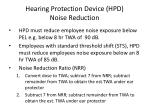 hearing protection device hpd noise reduction