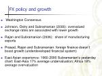 fx policy and growth