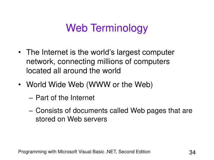 Web Terminology