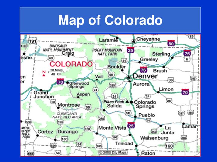 Map of Colorado