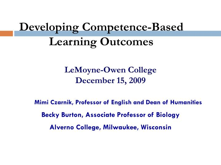 Lemoyne owen college december 15 2009