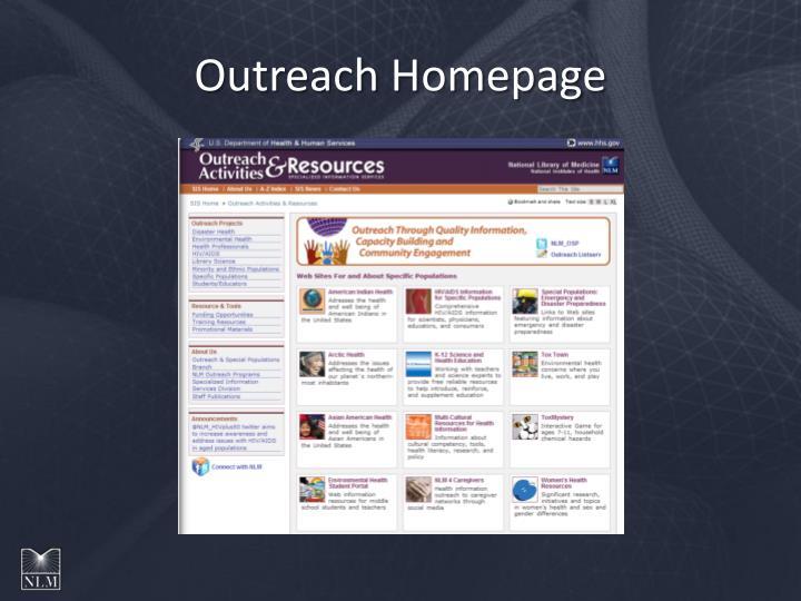 Outreach Homepage