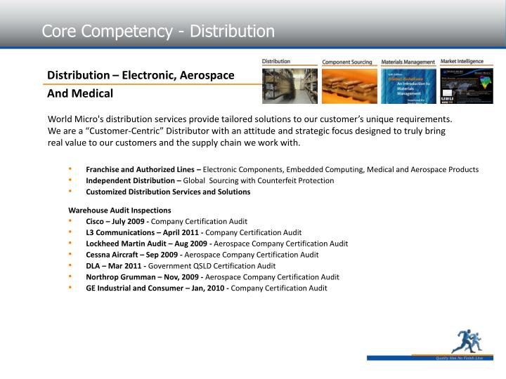 Core Competency - Distribution