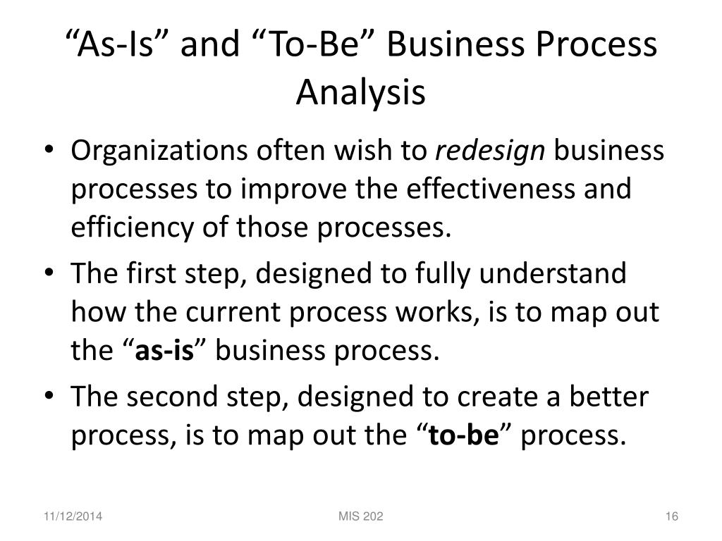 PPT - Business Process Analysis: Determining Business