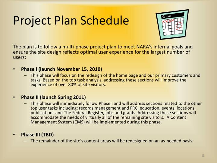 Project Plan Schedule