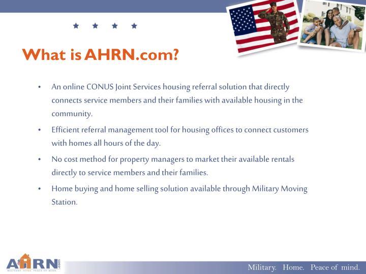 What is AHRN.com?