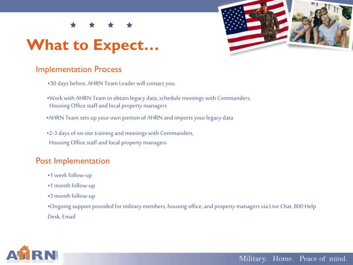What to Expect…
