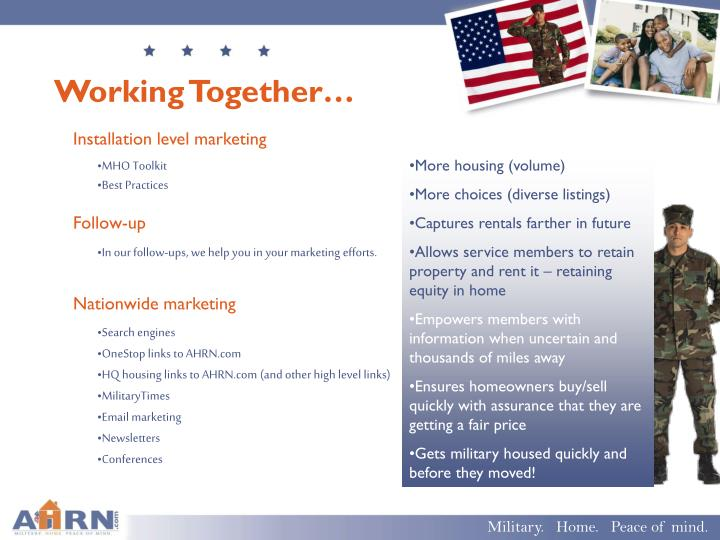Working Together…