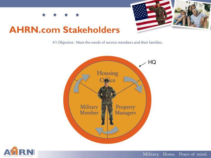 AHRN.com Stakeholders