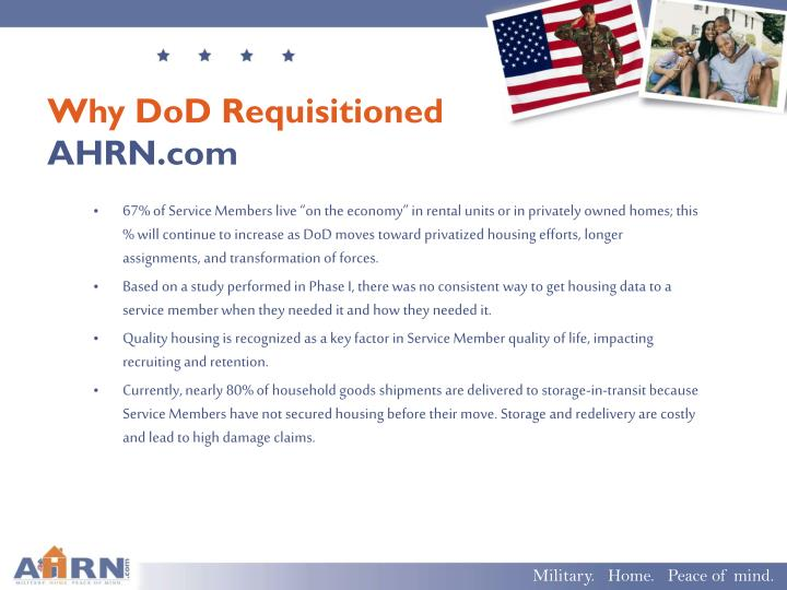 Why DoD Requisitioned