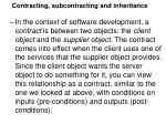 contracting subcontracting and inheritance2