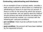 contracting subcontracting and inheritance3