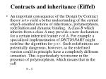 contracts and inheritance eiffel