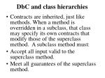 dbc and class hierarchies1