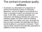 the contract to produce quality software1