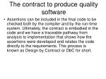 the contract to produce quality software3