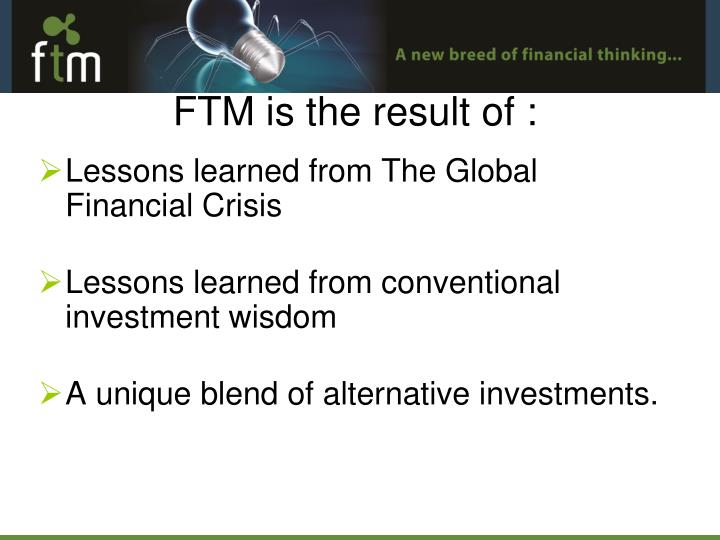 Lessons learned from The Global Financial Crisis
