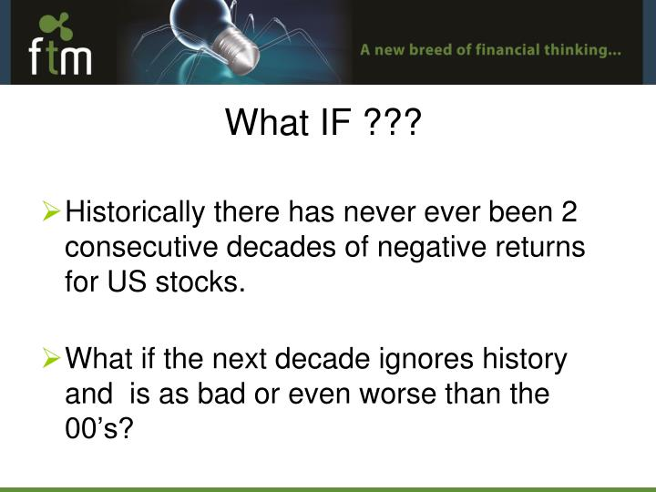 Historically there has never ever been 2 consecutive decades of negative returns for US stocks.