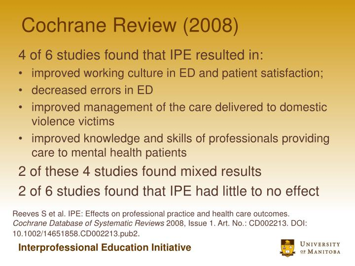 Cochrane Review (2008)