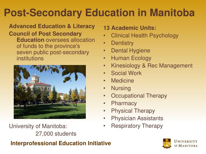 Post-Secondary Education in Manitoba