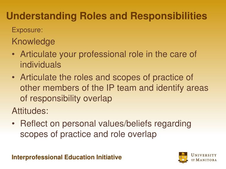 Understanding Roles and Responsibilities