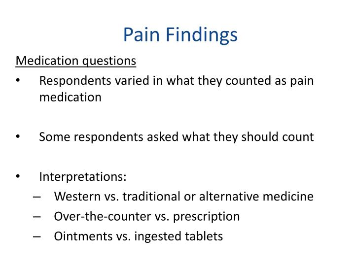 Pain Findings
