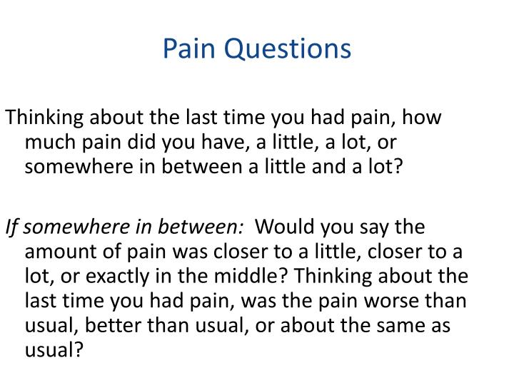 Pain questions1