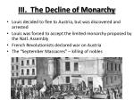 iii the decline of monarchy