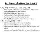 iv dawn of a new era cont