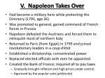 v napoleon takes over