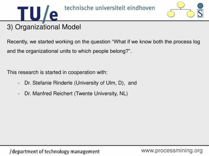 3) Organizational Model