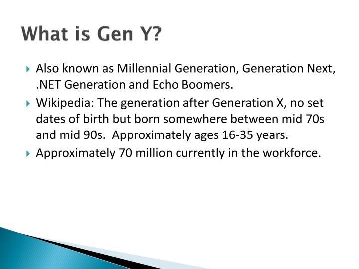 PPT - Recruiting and Retaining Generation Y Employees PowerPoint