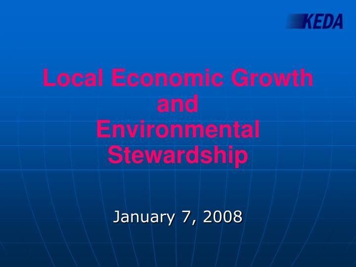 local economic growth and environmental stewardship n.