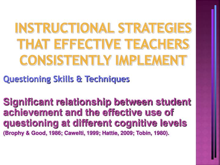 implementing effective teaching methods essay Proving early learning outcomes and implementing an intentional curriculum and effective teaching strategies across  delivery methods of training best help.