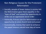 non religious causes for the protestant reformation