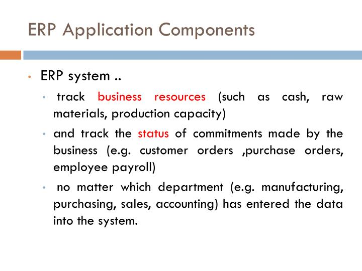 ERP Application Components
