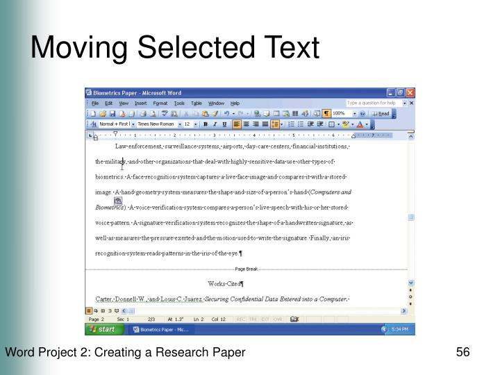 Moving Selected Text