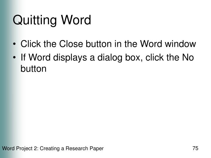 Quitting Word