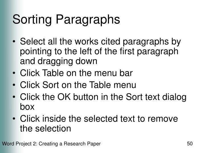 Sorting Paragraphs