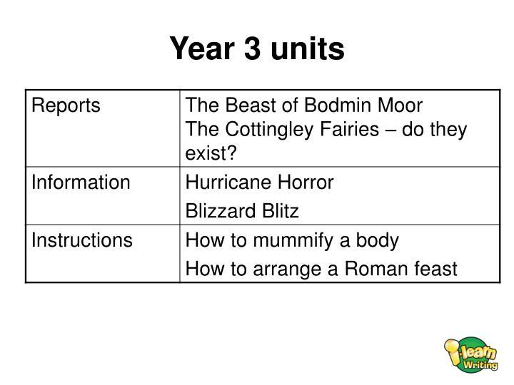 Year 3 units