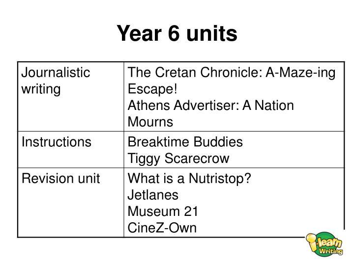 Year 6 units