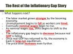the rest of the inflationary gap story1
