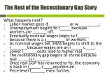 the rest of the r ecessionary gap story